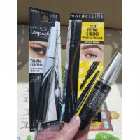 Maybelline Volum' Express Turbo Boost Waterproof Mascara MakeUp - Hitam