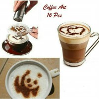 Coffee Art 16 Pcs ( 1 Set Isi 16 Pcs)