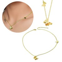 BE.JUU Kalung Cel Mai Frumos Fluture Korean Jewelry Gold Plated