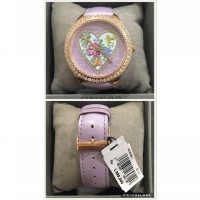 FLOWER CRYSTAL LEATHER STRAP GUESS WATCH
