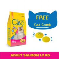 Cleo Salmon Adult Cat Food [1.2 kg] dan Cat Comb Cleo