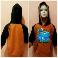 Sweater Hoodie Anak SD Motif Tayo The Little Bus