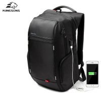 Kingsons Brand External USB Charge Computer Bag/Notebook Backpack inch Waterproof for man& woman