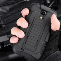 Case Armor Samsung Galaxy S5 Military Hybrid 3 in 1 With Belt Stand Back Cover Casing