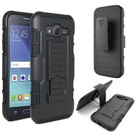 Back Cover Case Samsung Galaxy J7 2015 J700 Armor Military Hybrid 3 in 1 Stand Casing