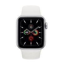 Apple Watch Series 5 Aluminium 40mm Silver with White Sport Band
