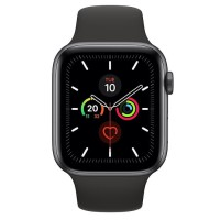Apple Watch Series 5 Aluminium 44mm Space Grey with Black Sport Band