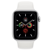 Apple Watch Series 5 Aluminium 44mm Silver with White Sport Band