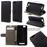 Lenovo Vibe C A2020 Agenda Standing Leather Book Case Casing Cover