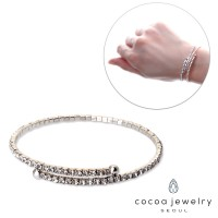 cocoa jewelry Gelang Wanita Korea - Crystal Lake Silver Color