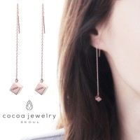 Korea Cocoa Jewelry Bellow Mood Earrings - Anting Rosegold & Silver
