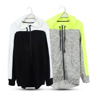 women full zip jacket_2 colors grey green and black white_branded Jaket_Womens Outer_Premium Quality
