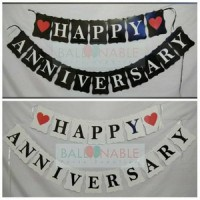 Bunting / Banner Flag Happy Anniversary