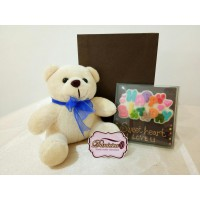 Choco Card Happy Birthday Dan Boneka Teddy Bear Cowo 15 Cm