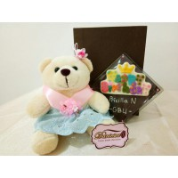 Choco Card Happy Birthday Dan Boneka Teddy Bear Cewe 15 Cm