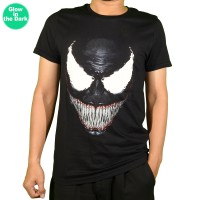 Braveman Kaos Lengan Pendek Unisex O-Neck T-Shirt 18.0016 Glow In the Dark - Hitam