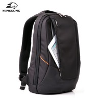 Kingsons Candy Black Laptop Backpack Man Daily Rucksack Travel Bag School Bags 15.6 inch backpack