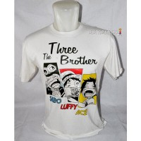Kaos Distro Anime Three Brother Putih