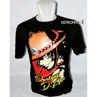 Kaos Distro Anime Cool Ace Hitam