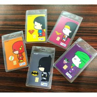 Kartu FLAZZ BCA  Cartoon Superheroes - Batman, Wonder Woman, Superman, Flash, Joker LIMITED EDITION