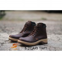 NEW Island Shoes Boots Safety High Urban Leather Brown - [Island 30]