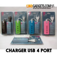 CHARGER USB 4 PORT WITH MULTIPLE CHARGING INTERFACE (0.5A - 2A)