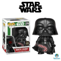 Funko POP! Star Wars Holiday - Darth Vader Candy Cane Glow in the Dark