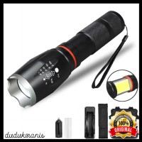 Paket Senter LED Torch Cree XM-L T6 with Charger OLA-273