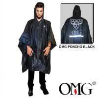 Jas Hujan Poncho Batman Raincoat OMG 100% PVC Waterproof Scotlight OMG