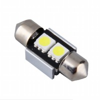 Lampu LED Mobil Kabin / Plafon / Festoon / Double Wedge C5W CANBUS 2 SMD 5050 31mm - White