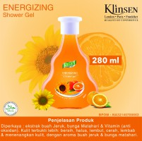 Klinsen shower gel energizing 280 ml - sabun mandi cair