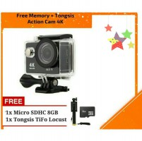 Action Camera 4K 16MP Wifi Free tongsis dan MMC 8GB