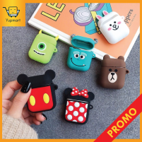 Diskon Case Kartun Apple Airpods Lucu Cute Silicone Rubber Pouch Brown Mickey - Cony