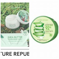 Nature Republic Soothing & Moisture Aloe Vera 92% + Shea Butter Steam Mask Sheet