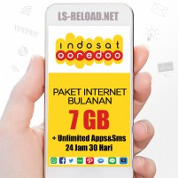 PROMO Indosat Paket Data Freedom U 7GB+20GB(Apps+YouTube+IG+Sms), 30hr