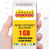 PROMO Indosat Paket Data Freedom U 1GB+4.5GBApps, 30hr