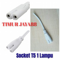 Headset Kabel Power Lampu Led Tube T5 / Kabel Angka 8 Sambungan Led T5 1 Lampu