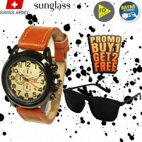 (PROMO TERBATAS) (BEST SELLER) Jam Tangan Pria Wanita Unisex Couple - BONUS FREE GRATIS TOPI/KACAMATA/DOMPET - Termurah COD Terlaris - Fashion Casual Formal Sport - Analog Digital Original - Tahan Air