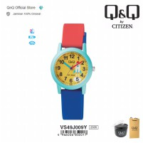 Q&Q Original Jam Tangan Arloji Anak Fashion Analog Rubber - QB86 QB86J / QnQ QQ | Water Resist 10 BAR