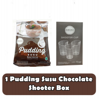omura pudding susu chocolate & shooter box
