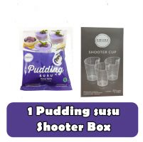 Omura pudding susu taro & Shooter Box