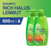 Paket isi 2 Rejoice Shampoo Rich Soft Smooth 600ml