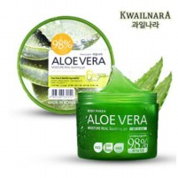 KWAILNARA 98% Aloe Vera Moisture Real Soothing Gel - Jar 300 ml