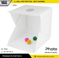Photo Studio Foto Mini Lipat dengan Lampu LED Size Large - White