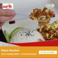 Pato-Pa Value Combo ( 2 Pcs Chicken Honey Mayo + 2 Pcs Teh Pucuk)