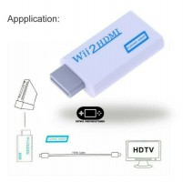 Adapter Converter Nintendo Wii To HDMI Resolusi HD 720 1080 HD