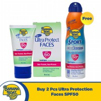 Banana Boat - Ultra Protect Faces Lotion SPF50 60ml 2 PCS Free Sport Coolzone Spray SPF50+ 170g