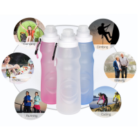 Silicone Water Bottle: Foldable And Reusable!