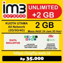 Promo Paket Data Indosat 2GB 24Jam 30Hari Internet Plus