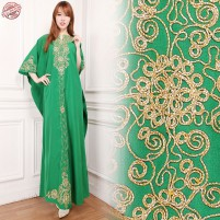 Glow fashion Dress maxi panjang gamis kaftan wanita jumbo long dress Ifah